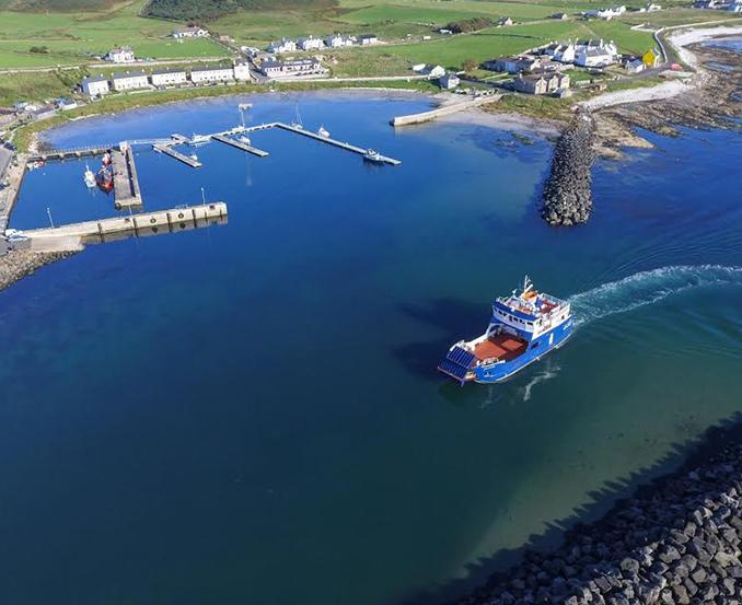 Rathlin Island Ferry route